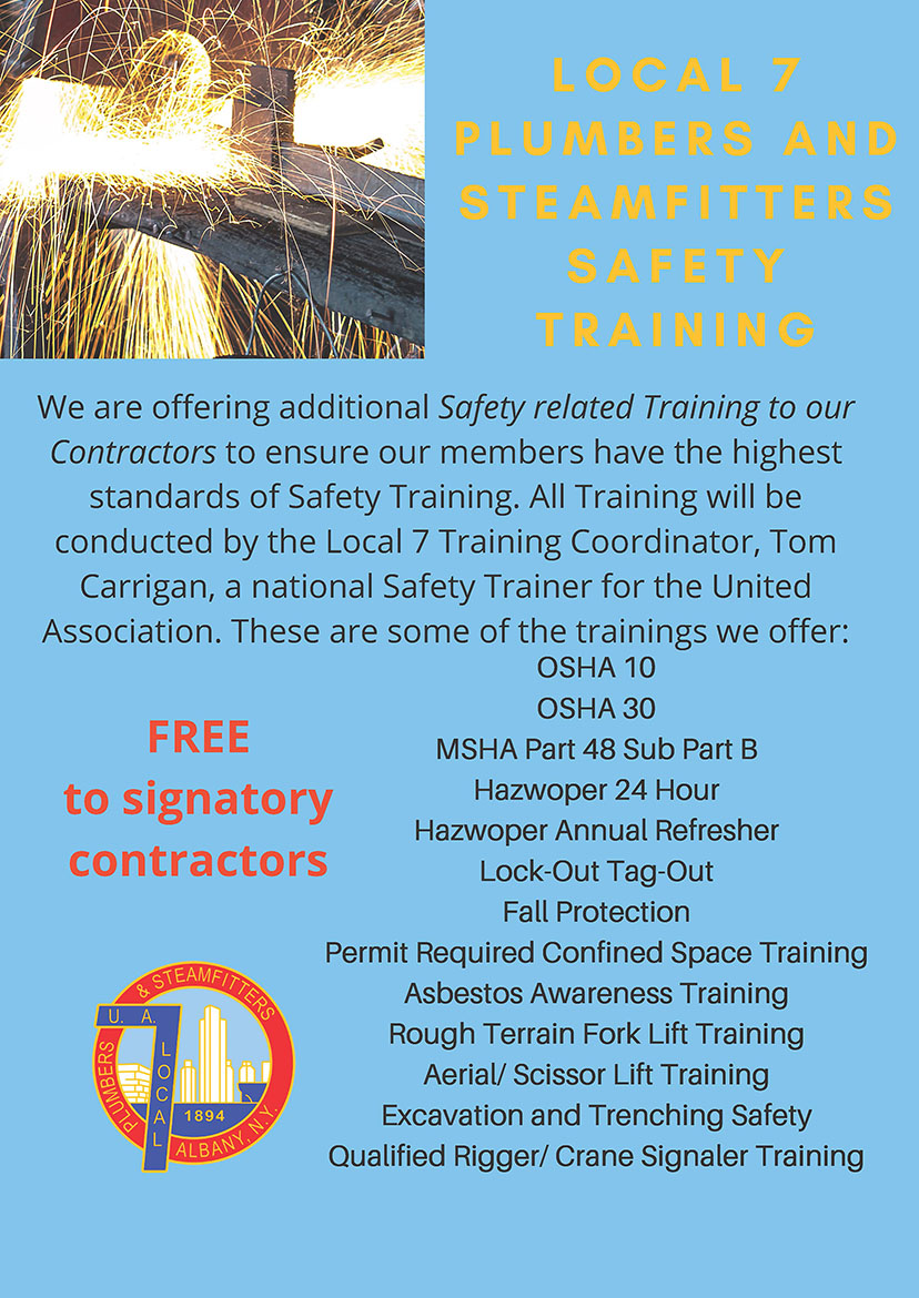 Safety Training Flyer